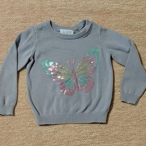 Light purple sweater with sequins butterfly